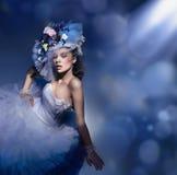 Brunette da beleza Imagem de Stock Royalty Free