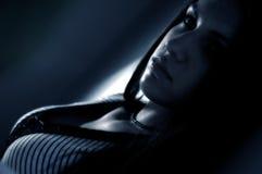 Brunette Daydreaming fotografie stock libere da diritti
