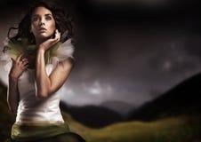 Brunette de beauté Photographie stock libre de droits