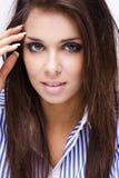 brunette de beauté image stock