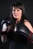 Brunette de boxe photos stock