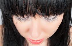 Brunette de fascinación con los ojos strassed aislados Fotografía de archivo libre de regalías