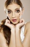 Brunette de lovley de Beautyful Photographie stock libre de droits