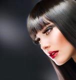 Brunette de mode images stock