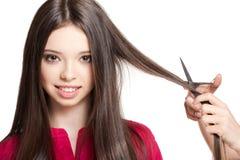 Brunette de pelo largo Imágenes de archivo libres de regalías