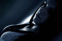 Brunette de rêverie Photos libres de droits