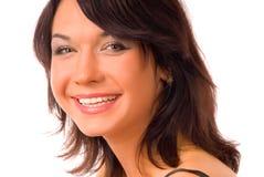 Brunette de sorriso Fotos de Stock Royalty Free