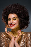 Brunette de sorriso Fotografia de Stock