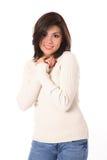 Brunette de sorriso bonito foto de stock royalty free