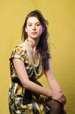 Brunette del retrato Imagen de archivo libre de regalías