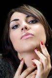 Brunette del Temptress fotografia stock