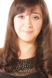 Brunette, der Gelächter unterdrückt Stockfotografie