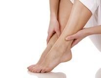 Füße Schmerz Stockfoto