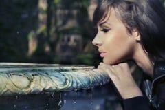 brunette di bellezza Fotografie Stock Libere da Diritti