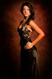 Brunette in elegant dress Royalty Free Stock Images