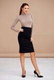 Brunette elegante Foto de Stock Royalty Free