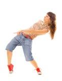 Brunette en danza urbana Imagen de archivo