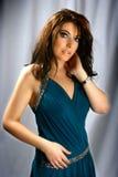 Brunette encantador con los ojos azules Fotos de archivo libres de regalías
