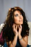 Brunette encantador con los ojos azules Foto de archivo