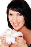 Brunette encantador novo Foto de Stock