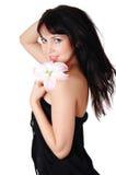 Brunette encantador novo fotos de stock