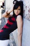 Brunette fashion model Royalty Free Stock Photo