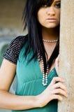 Brunette fashion model Stock Image