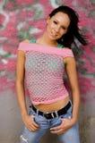 Brunette fashion model Royalty Free Stock Photography