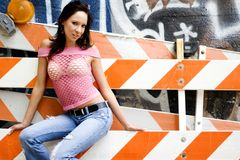 Brunette fashion model Stock Image