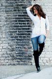 Brunette fashion model Royalty Free Stock Images