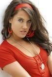 Brunette fashion model Stock Photos
