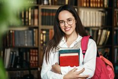 Portrait of College Student stock photo