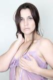 Brunette female Stock Images