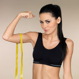 Brunette Fitness girl Royalty Free Stock Photo
