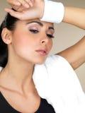 Brunette Fitness girl Stock Image