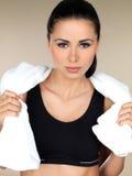Brunette Fitness girl Stock Images