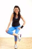 Brunette fitness girl stock photography