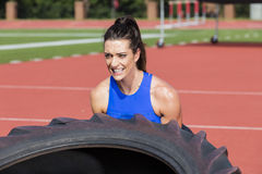 Brunette Fitness Model Working Out Royalty Free Stock Photos