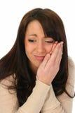 Brunette-Frau in den Schmerz Lizenzfreie Stockfotos