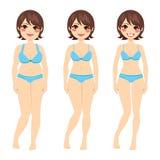 Brunette-Frauen-Diät lizenzfreie abbildung