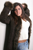 Brunette fur two Stock Photos