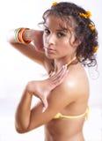 Brunette Gir In Swimsuit Stock Images