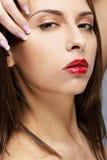 Brunette girl Stock Images