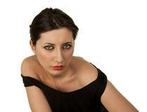 Brunette girl. Beautiful  brunette girl  isolated on white background Royalty Free Stock Image