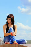 A brunette girl Royalty Free Stock Photo