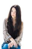 Brunette girl. Stock Photos