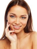 Brunette girl with beautiful smile Royalty Free Stock Photography