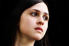 Brunette girl face Stock Image