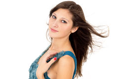 Brunette girl with healthy skin Royalty Free Stock Photos