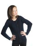 Brunette girl isolated Royalty Free Stock Image